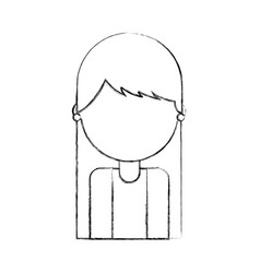 portrait young woman female avatar vector image
