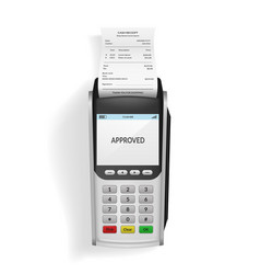 realistic 3d detailed bank pos terminal vector image
