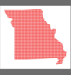 Red dot map of missouri vector