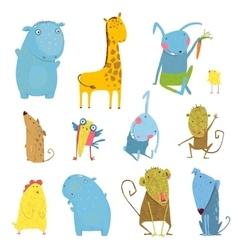 Set of Animals Cartoon vector image