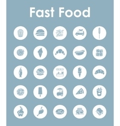 Set of fast food simple icons vector