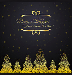 Shiny golden winter trees vector