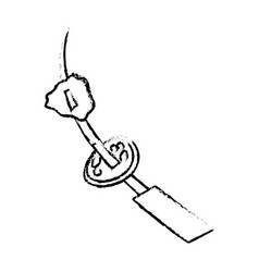 sketch skewer beef picnic vector image