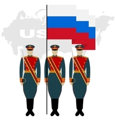Soldiers Guard of Honour in the Russian Federation vector