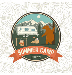 summer camp patch concept for shirt vector image