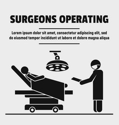 Surgeon operation concept background simple style vector