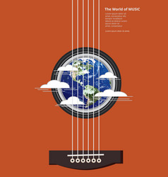 The world of music poster vector