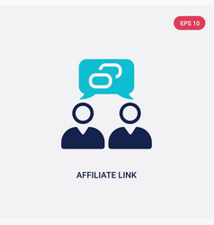 Two color affiliate link icon from general-1 vector