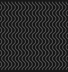 Vertical thin wavy lines seamless pattern dark vector