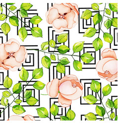 watercolor memphis floral background vector image