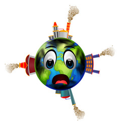 world full of pollution vector image