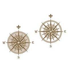 ancient compass vector image vector image