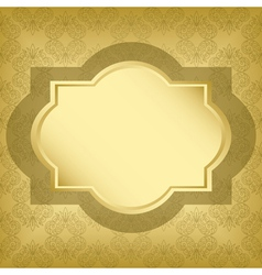 golden frame with golden texture vector image vector image