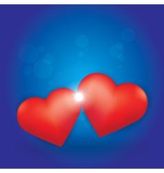 Love Burst between two Hearts vector image vector image