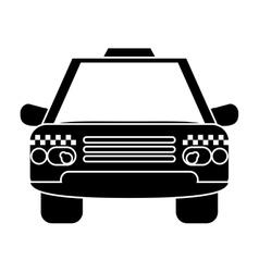 silhouette taxi cab car public transport vector image