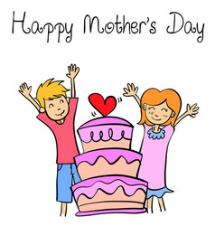style of mother day collection vector image vector image