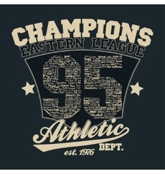 Athletics typography t-shirt graphics vector image vector image