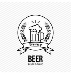 Beer and barley emblem vector image vector image