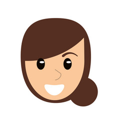 face woman head cartoon vector image vector image