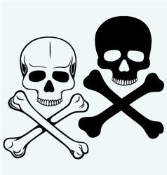 Skull and crossbones vector image vector image
