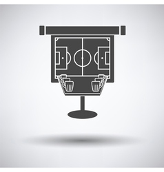 Sport bar table with mugs of beer and football vector image vector image