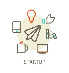 start up Trendy for new businesses vector image