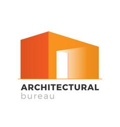 architectural bureau logo vector image vector image