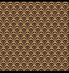 art deco black and gold geometric style pattern vector image vector image