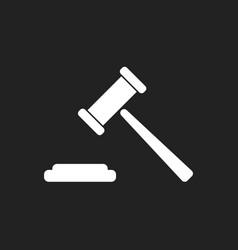 auction hammer icon court tribunal flat icon vector image