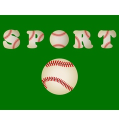 baseball ball written word sport vector image vector image