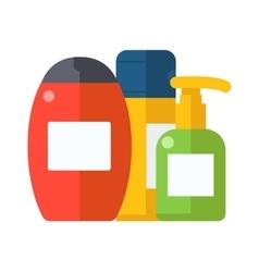Cosmetic packaging plastic shampoo or shower gel vector