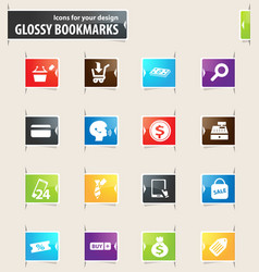 e-commerce bookmark icons vector image vector image