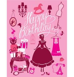 happy birthday room 380 vector image vector image