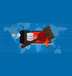 information technology internet digital justice vector image vector image
