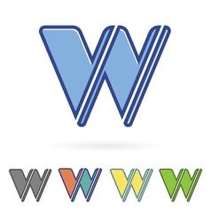 letter W design vector image vector image