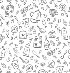 Pattern of kitchen tools vector image vector image