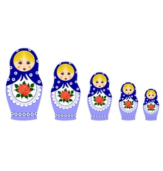Traditional matryoschka dolls vector image vector image