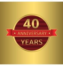 Anniversary 40 years vector image