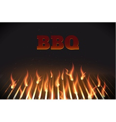 bbq fire grille eps 10 vector image vector image