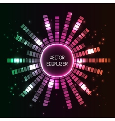 Circlel equalizer background vector image