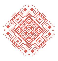 ethnic geometric decorative pattern ornament vector image