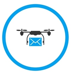 Mail Air Copter Delivery Icon vector image vector image