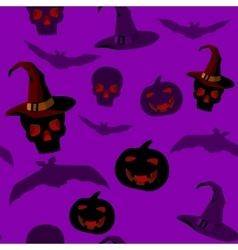 seamless pattern with halloween paraphernalia vector image vector image