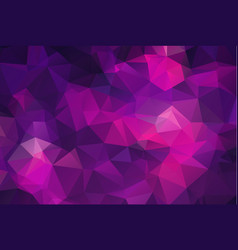 Abstract polygon background dark purple polygonal vector