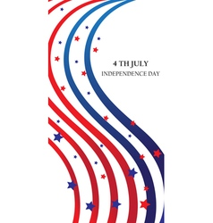 abstract ribbons flag banner July 4 Independence vector image