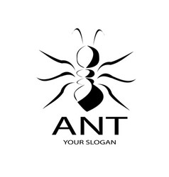 Ant logo design is simple vector