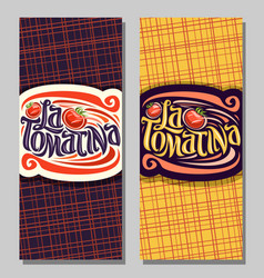 Banners for tomatina festival vector