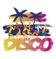 beach disco party dancers vector image
