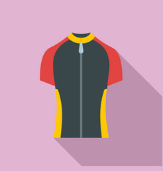 Bike zipper clothes icon flat style vector