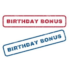 Birthday Bonus Rubber Stamps vector